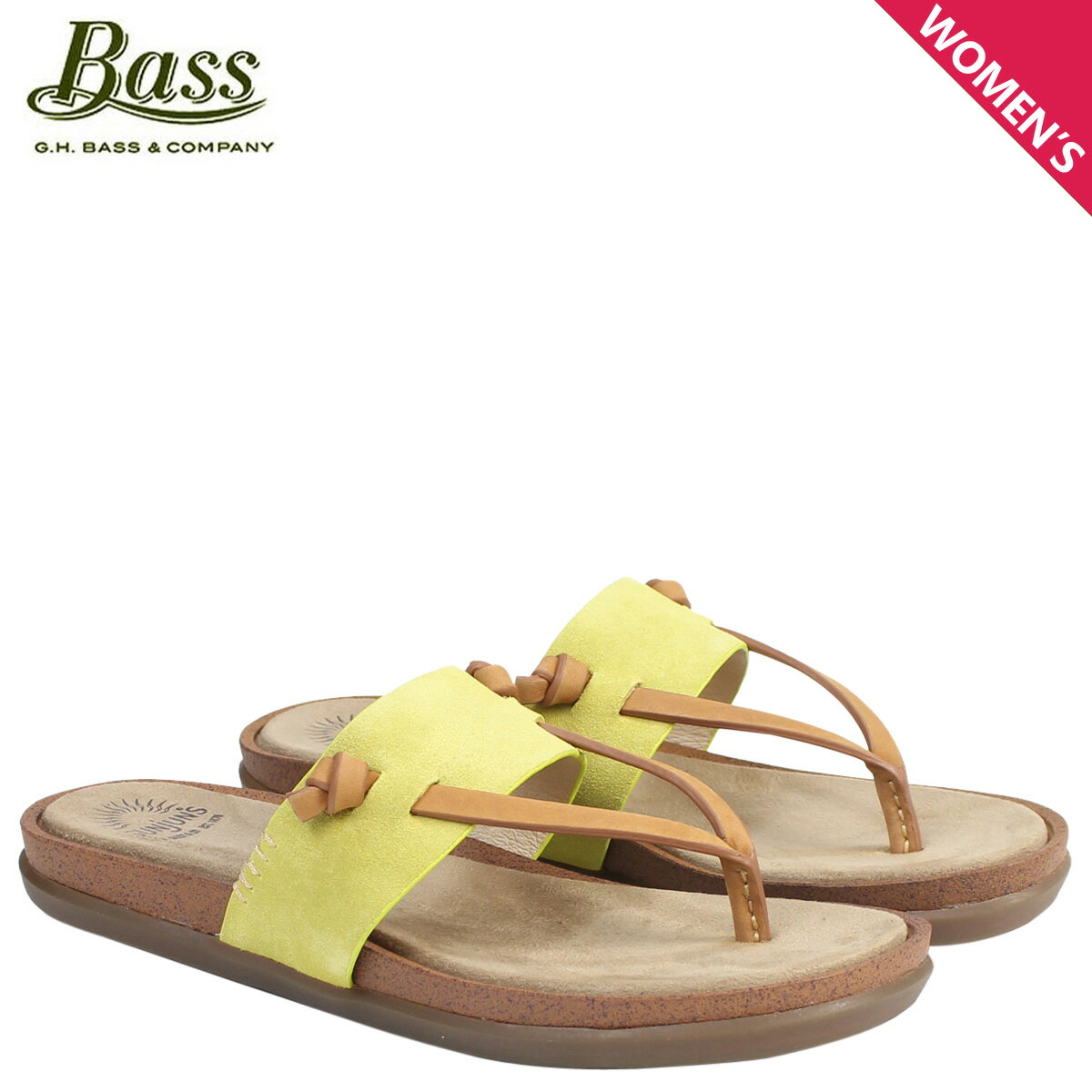 ジーエイチバス サンダル レディース G.H. BASS トング SHANNON THONG SUNJUNS 71-23013 靴 イエロー [177]