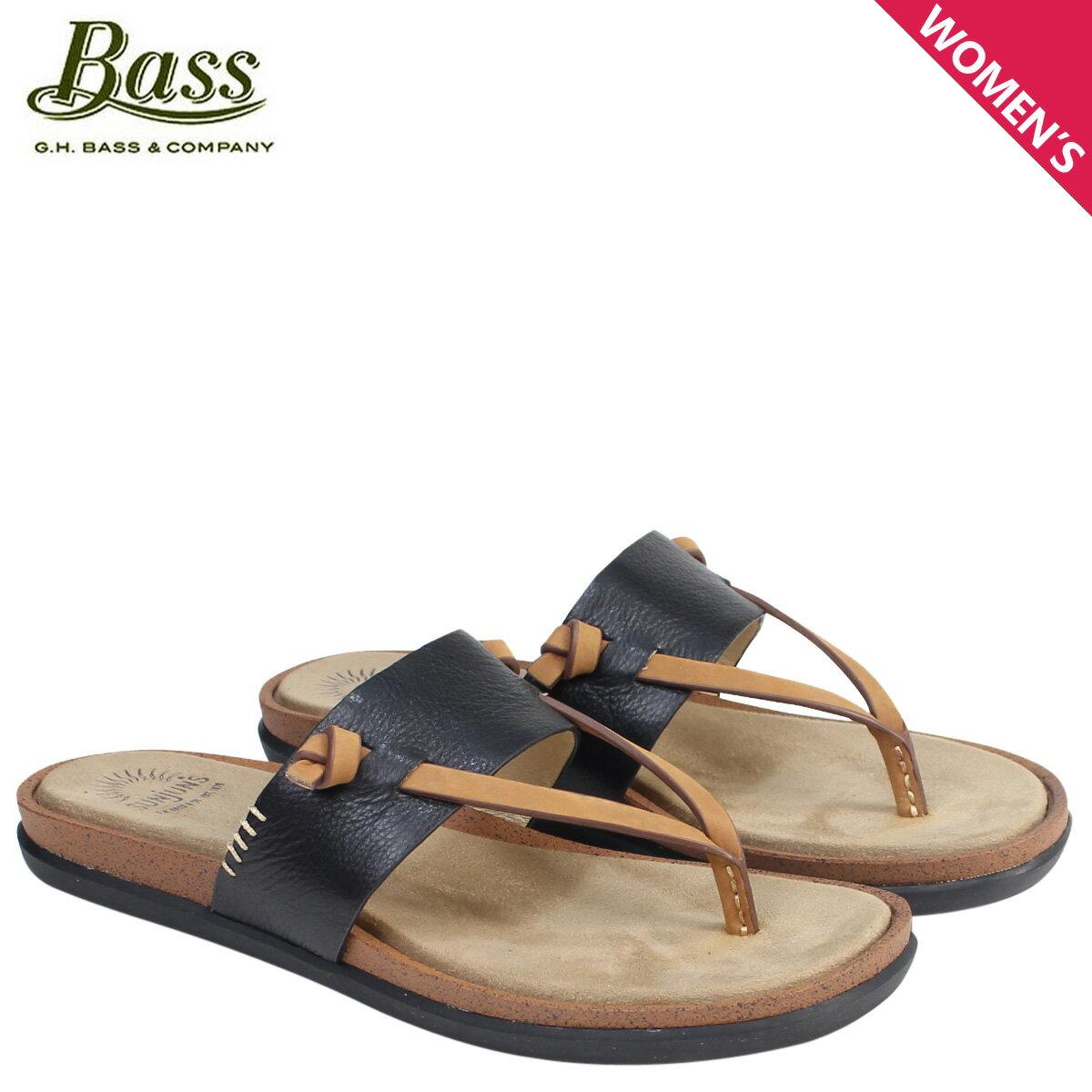 ジーエイチバス サンダル レディース G.H. BASS トング SHANNON THONG SUNJUNS 71-23014 靴 ブラック [177]