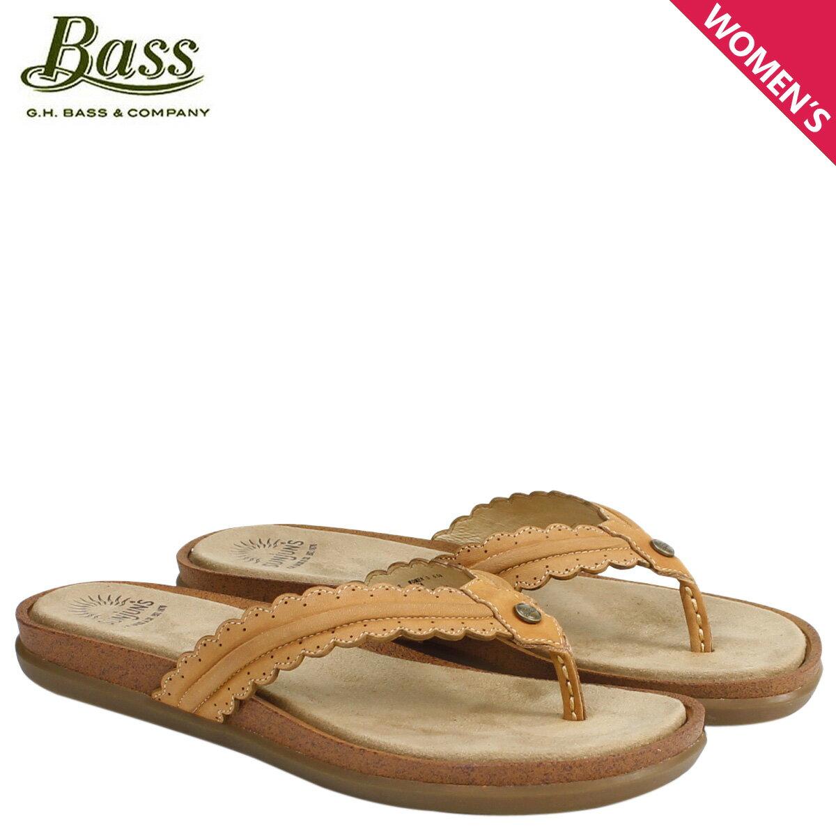 ジーエイチバス サンダル レディース G.H. BASS トングサンダル SAMANTHA SCALLOPED SUNJUNS 71-23032 靴 ブラウン [177]