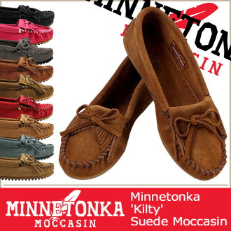 «Some pre-order items» «11 / 6 days will be in stock» Minnetonka MINNETONKA Kirti moccasin KILTY SUEDE MOC suede women's suede HARDSOLE
