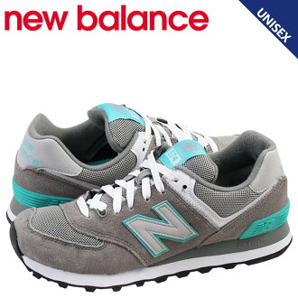 New balance new balance women's WL574SNG sneaker B wise suede x mesh mens grey / teal suede [regular]