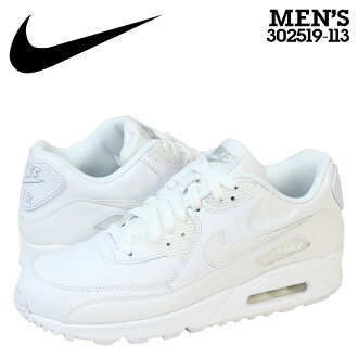 Nike NIKE AIR MAX 90 LEATHER sneakers Air Max 90 leather mens 302519-113 WHITE/WHITE white [10 / 25 new in stock] [regular]