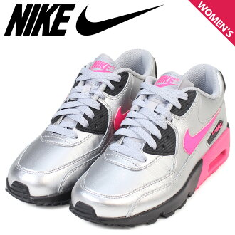 huge discount 5ba3d 51063 ALLSPORTS  Nike NIKE Air Max Lady s sneakers AIR MAX 90 LTR GS Air Max  833,376-004 shoes silver  2 24 Shinnyu load    Rakuten Global Market