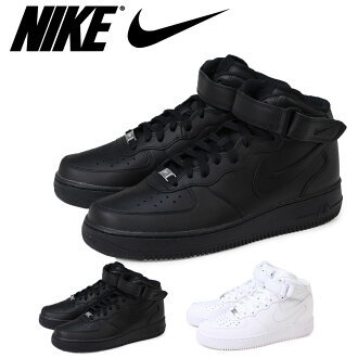NIKE Nike air force sneakers AIR FORCE 1 MID air force 1 mid 315,123-001 315,123-111 men's lady's shoes black white [the 9/2 additional arrival] [178]