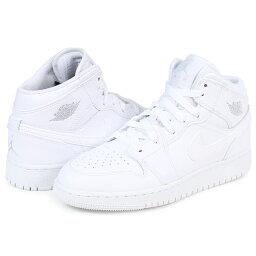 NIKE AIR JORDAN 1 MID BG耐吉空氣喬丹1女子的運動鞋554725-104鞋白[1/9新進貨][1801]