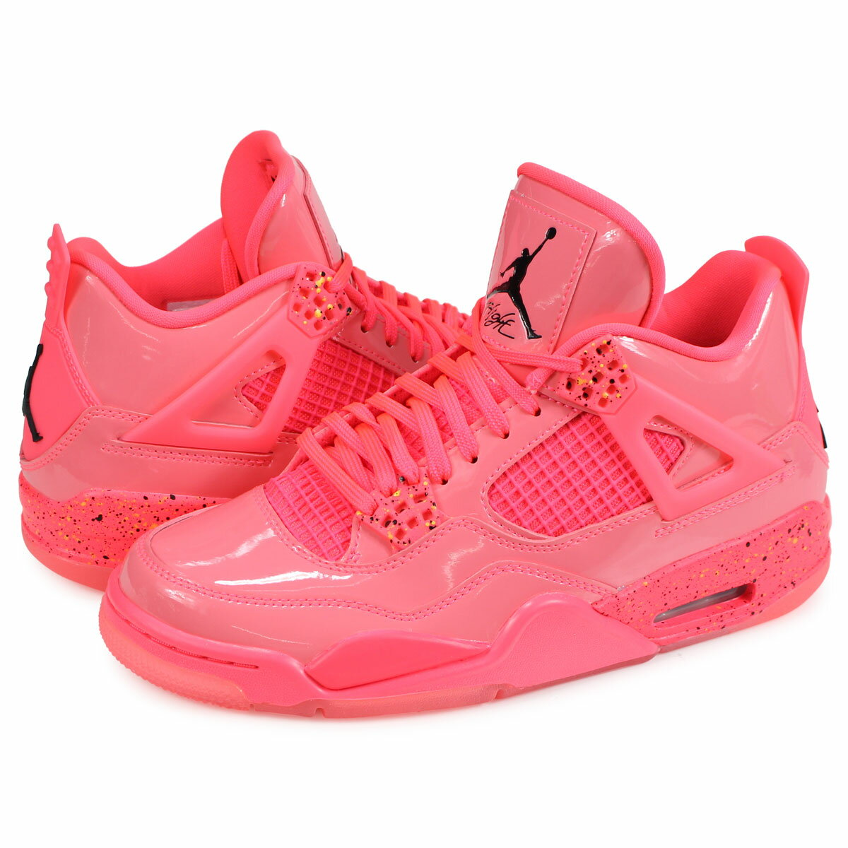 Nike NIKE Air Jordan 4 nostalgic sneakers Lady\u0027s men WMNS AIR JORDAN 4  RETRO NRG pink AQ9128,600 [191]