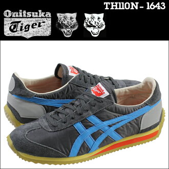 Onitsuka Tiger ASICs Onitsuka Tiger asics CALIFORNIA 78 VIN sneakers California 78 vintage suede canvas mens Womens 2015 spring summer new TH 110N-1643 grey blue unisex [5 / 20 new stock] [regular] ★ ★