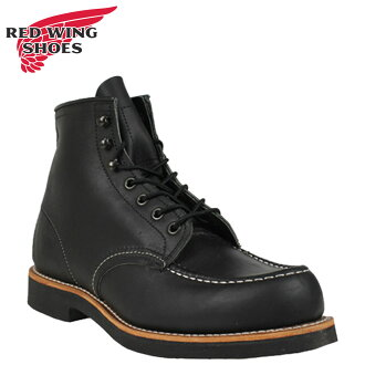 Redwing RED WING 200 series 6 inch MOC to boot [Black Mesa] 9213 200 Collection 6inch Moc Toe Boots leather mens Made in USA Red Wing [regular]