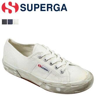 SUPERGA拼写蛾运动鞋女士2750 COTU STONEWASH损伤加工S0037L0