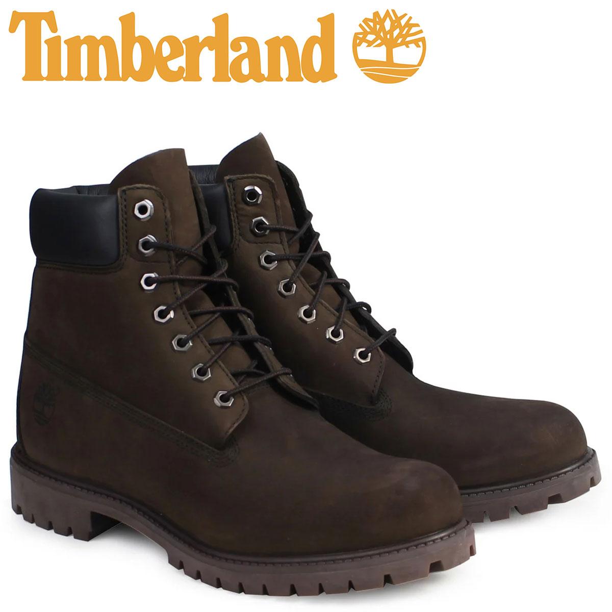 Timberland 6INCH PREMIUM WATERPROOF BOOTS ティンバーランド ブーツ メンズ 6インチ プレミアム ウォータープルーフ ヌバック 防水 10001 ダークチョコレート [187]