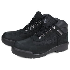【最大1000円OFFクーポン】 Timberland FIELD BOOT F/L WATERPROOF ティンバーランド フィールド ブーツ メンズ Mワイズ 防水 ブラック 黒 A1A12
