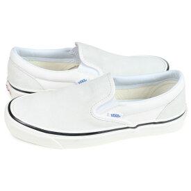 VANS CLASSIC SLIP-ON バンズ スリッポン クラシック スニーカー メンズ レディース ヴァンズ 98 DX ホワイト 白 VN0A3JEXQU2