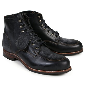 金剛狼金剛狼男裝 1000 英里靴子考特蘭 1000年英里引導 D 明智 W00279 黑色類比工作靴子