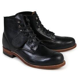 WOLVERINE ウルヴァリン 1000マイル ブーツ ADDISON 1000MILE WINGTIP BOOT Dワイズ W05344 ブラック ウィングチップ ワークブーツ メンズ