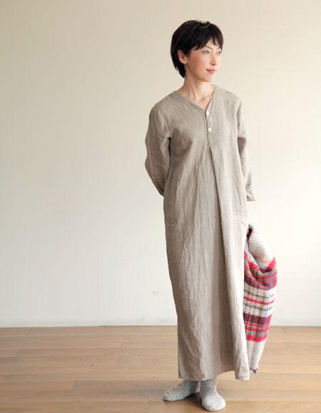 fog linen work(フォグリネンワーク) スピカ ナイトシャツ ナチュラル 【パジャマ】