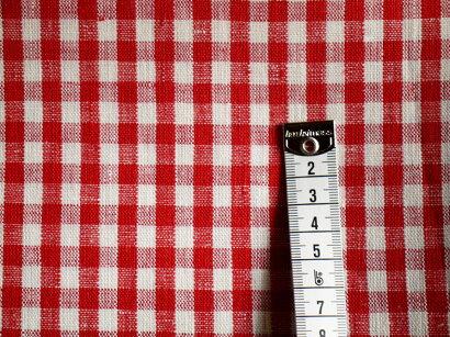 foglinenwork(フォグリネンワーク)の生地レッドホワイトチェック【リトアニアリネン】【ワイド幅147cm】【生地販売】【切り売り】