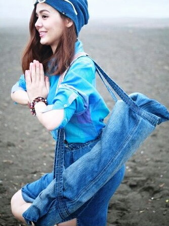 araiyan(アライヤン)デニムヨガマットカバー(ケース)