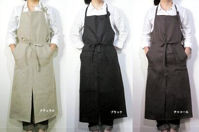 nay(ネイ)リネンフルエプロンlinen100%日本製