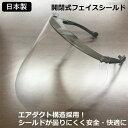 フェイスシールド 日本製 開閉式 可動式 耐久性高 フェイスガード 防塵・飛沫防止 花粉症対策 コロナ対策 長野県のス…