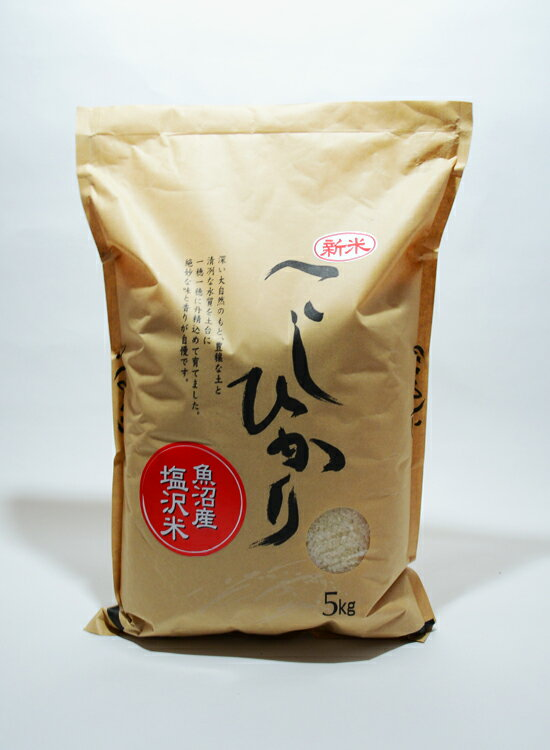 平成29年度産 旧塩沢大沢産コシヒカリ5kg 玄米