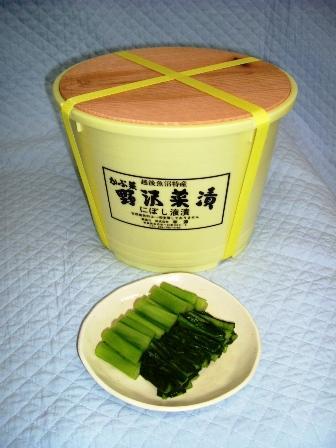 【野沢菜,越後】シャキシャキ食べ頃になってます 越後の野沢菜樽漬(4kg)