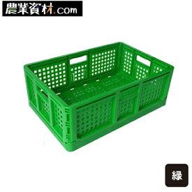 【企業限定】折りたたみコンテナ(緑)コンテナ 収納 片付け カラフル コンテナボックス 折りたたみボックス 収納ボックス 取っ手
