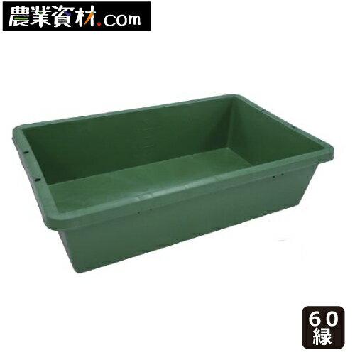 【企業限定】プラ箱 60 (緑) トロ舟 トロ箱 飼育
