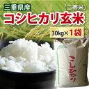 【 令和元年 新米 】三重県産 コシヒカリ 玄米 二等米 30kg 【送料無料】