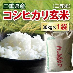 【 令和2年 】 三重県産 コシヒカリ こしひかり 玄米 二等米 30kg 【送料無料】