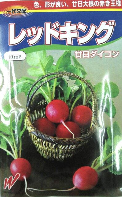 廿日大根 種 【 レッドキング 】 種子 小袋(約10ml) ( 種 野菜 野菜種子 野菜種 )