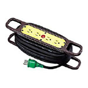 日動 ハンドリール 100V 3芯×10m 黒 アース付 HR-E104-B