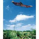 鳥追いカイト鷹(ファイバーポール支柱付) (防鳥具 防獣 鳥対策 虫用品 )