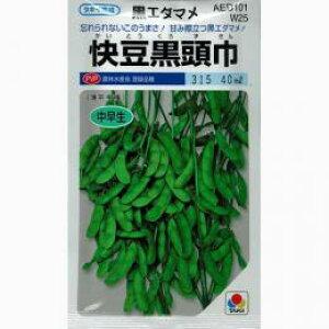 枝豆 種 【 快豆黒頭巾 】 種子 小袋(約40ml) ( 種 野菜 野菜種子 野菜種 )