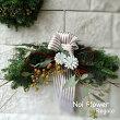 送料無料モミのNoi風ナチュラルクリスマススワッグM横長クリスマスプレゼントフレッシュオーナメントChristmasXmas壁飾りリース