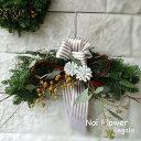 送料無料モミのNoi風 ナチュラル クリスマス スワッグM 横長 クリスマス プレゼント フレッシュオーナメント Christma…