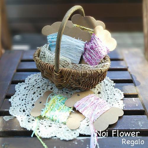 お花と同梱でこちらの商品は送料無料! 引き揃え糸 6種類セット 北欧風雑貨 糸 おしゃれ 詰め合わせ ナチュラル ラッピング aki作