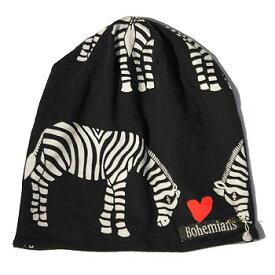 【ボヘミアンズ/Bohemians】LOVE ZEBRA WATCH CAP(ラブゼブラワッチキャップ)[BH-09]【送料無料】