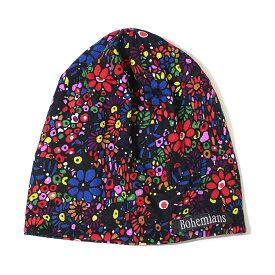 【ポイント10倍】【ボヘミアンズ/Bohemians】MOSAIC FLOWER WATCH CAP(モザイクフラワーワッチキャップ)[BH-09]【送料無料】【p10】【クーポン利用可m200】