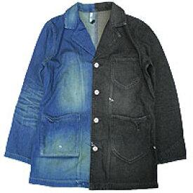 【エフィレボル/.efilevol】Black & Indigo Shop Coat ブラックアンドインディゴショップコート【送料無料】