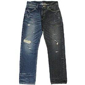 【エフィレボル/.efilevol】Black & Indigo Denim Pants ブラックアンドインディゴデニムパンツ【送料無料】