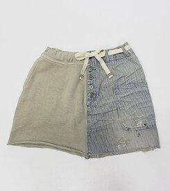 【エフィレボル/.efilevol】Marine Hickory×Sweat Skirt マリンヒッコリー×スウェットスカート【送料無料】【あす楽対応】