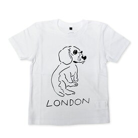 【エフィレボル/.efiLevol 】LONDON Dog Illust Kids Tee ロンドンドッグイラストキッズTシャツ【あす楽対応】