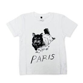 【エフィレボル/.efiLevol 】PARIS Cat Illust Kids Tee パリキャットイラストキッズTシャツ【あす楽対応】
