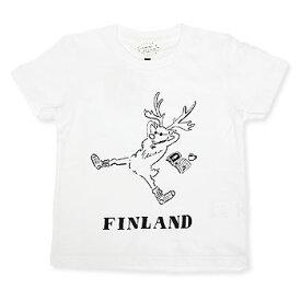 【エフィレボル/.efiLevol 】FINLAND REINDEER Illust Kids Tee フィンランドトナカイイラストキッズTシャツ【あす楽対応】
