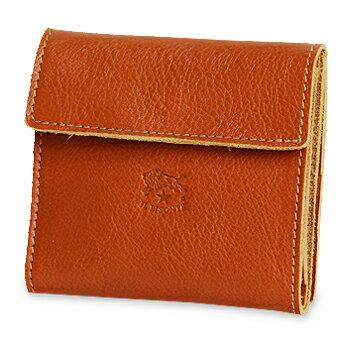 【ペアギフト対象】【イルビゾンテ IL BISONTE 財布】スクエアレザーウォレット  [商品番号_411465]【送料無料】【あす楽対応】【財布 二つ折り財布】