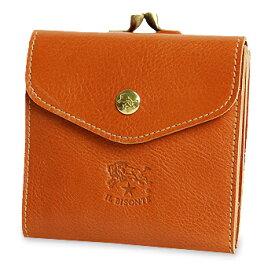 【イルビゾンテ IL BISONTE 財布】スクエアがま口レザーウォレット[商品番号_411277]【送料無料】【あす楽対応】【財布 がま口財布 二つ折り財布】