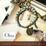 [Olivia][パワーストーン][ブレスレット][ターコイズ][メダイ]綺麗色ターコイズとメダイ様のパワーストーンブレスレット激安NOLITA