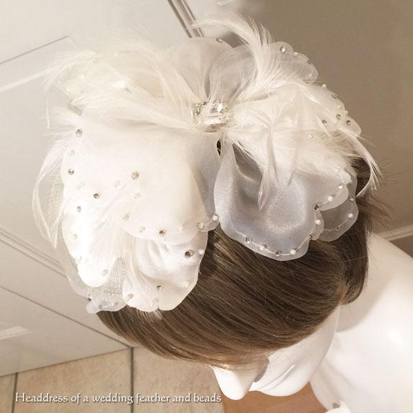 ティアラ ウエディング 結婚式 ブライダル ヘッドドレス ビジュー NOLITA fairy stoneクリスタルビジューとフェザーのフラワーヘッドドレス 天然石 パワーストーン 髪飾り売り切れちゃったらごめんなさいシリーズ