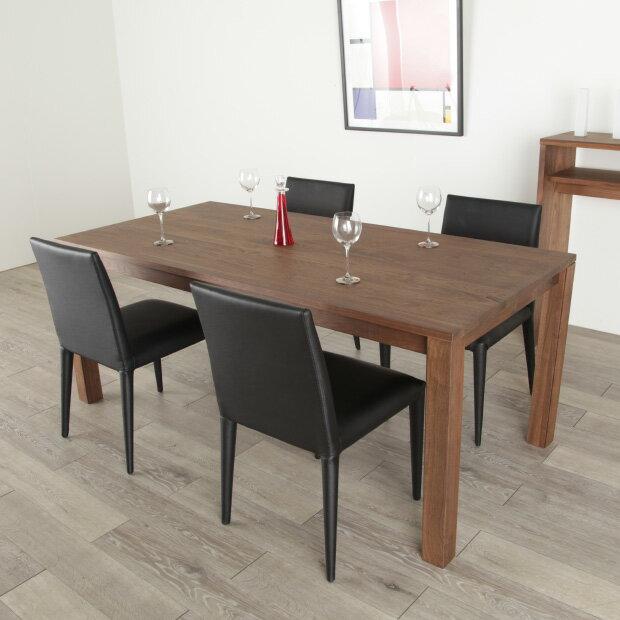 ダイニングテーブル 200cm ウォールナット 食卓テーブル ハイテーブル 天然 木製 送料無料 シンプル 北欧 オフィス 無垢 大川家具 caros