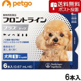 【ネコポス(同梱不可)】犬用フロントラインプラスドッグS 5〜10kg 6本(6ピペット)(動物用医薬品)【あす楽】